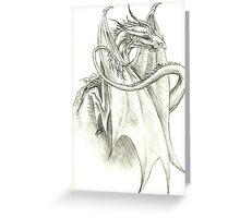 Perched Dragon Greeting Card