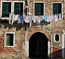 Venetian Swags-Venice, Italy by Deborah Downes