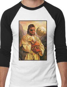 Venom Jesus Snake - parody Men's Baseball ¾ T-Shirt
