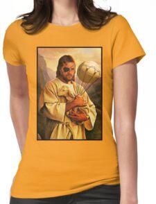 Venom Jesus Snake - parody Womens Fitted T-Shirt