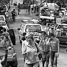 Brisbane Floods 2011 - Clean Up - The Mud Army (B&W) by Neil Ross