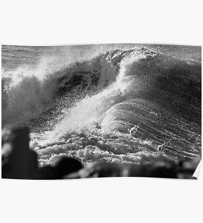 Ocean Swallowing Itself Poster