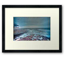 HDR Sea Defences Framed Print