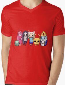 Mini Time! Mens V-Neck T-Shirt