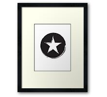 Star Grunge Framed Print