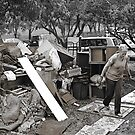 Brisbane Floods 2011 - Clean Up - Destined For The Dump (B&W - Sepia) by Neil Ross