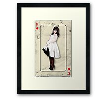 Pin Up Playing Card Framed Print