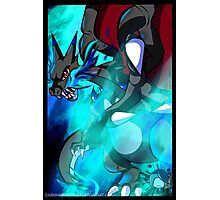 Mega Charizard X Photographic Print