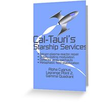 Cal-Tauri's Starship Services Greeting Card