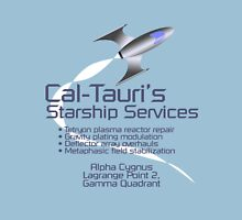 Cal-Tauri's Starship Services Unisex T-Shirt