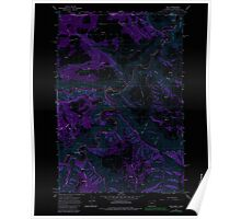 USGS Topo Map Oregon Troy 281880 1967 24000 Inverted Poster