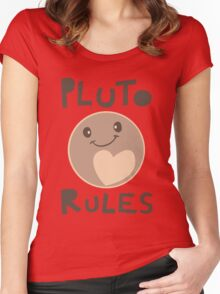 Excuse Me While I Science - Pluto Rules! Women's Fitted Scoop T-Shirt