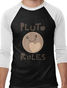 Excuse Me While I Science - Pluto Rules! Men's Baseball ¾ T-Shirt