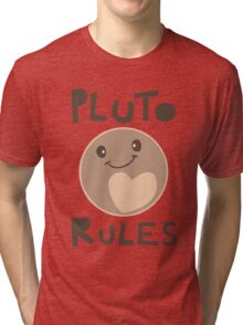 Excuse Me While I Science - Pluto Rules! Tri-blend T-Shirt