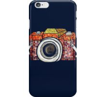 Patchwork Camera (dark tee) iPhone Case/Skin