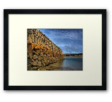 Douglas Quay at Low Tide - Alderney Framed Print