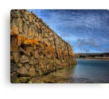 Douglas Quay at Low Tide - Alderney Canvas Print