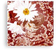 Daisy and Lichen Hand In Hand Canvas Print