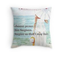 Affirmation for FORGIVENESS Throw Pillow