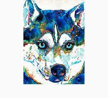 Colorful Husky Dog Art by Sharon Cummings T-Shirt