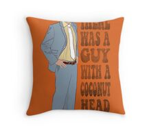 Mr Coconut Head Throw Pillow