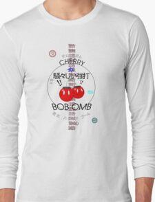 Cherry Bob Omb Transparent Version Long Sleeve T-Shirt