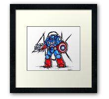 Cap'n Warhammer Framed Print