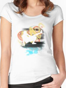 Music...ENERGY! Cool! Let's dance! Women's Fitted Scoop T-Shirt