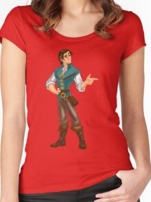 Flynn Rider Women's Fitted Scoop T-Shirt