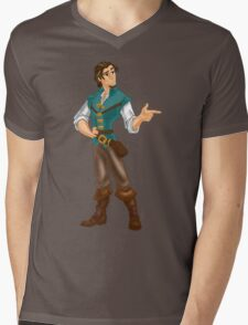 Flynn Rider Mens V-Neck T-Shirt