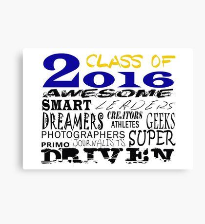 Class of 2016 Traits - Blue/Gold Canvas Print