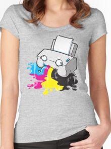 Puker Printer Women's Fitted Scoop T-Shirt