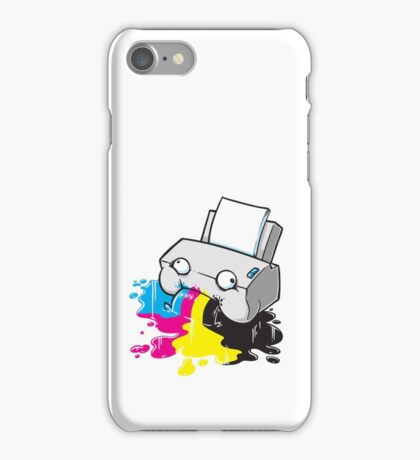 Puker Printer iPhone Case/Skin