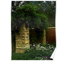 Wisteria in Moonlight Poster
