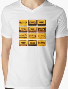 Cassettes Mens V-Neck T-Shirt