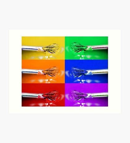 Rainbow Brushes Art Print