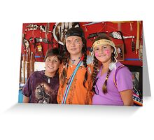 Three Little Indians Greeting Card