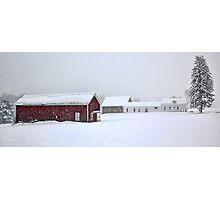 April 1st Blizzard - The Lindscott Farm Photographic Print