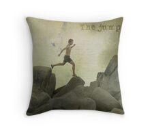 The jump Throw Pillow