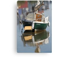 Little Green Boat Canvas Print