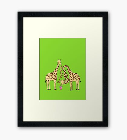 Crazy Straw Framed Print