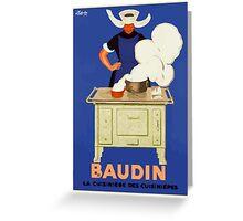 Leonetto Cappiello Affiche Baudin Cappiello Greeting Card