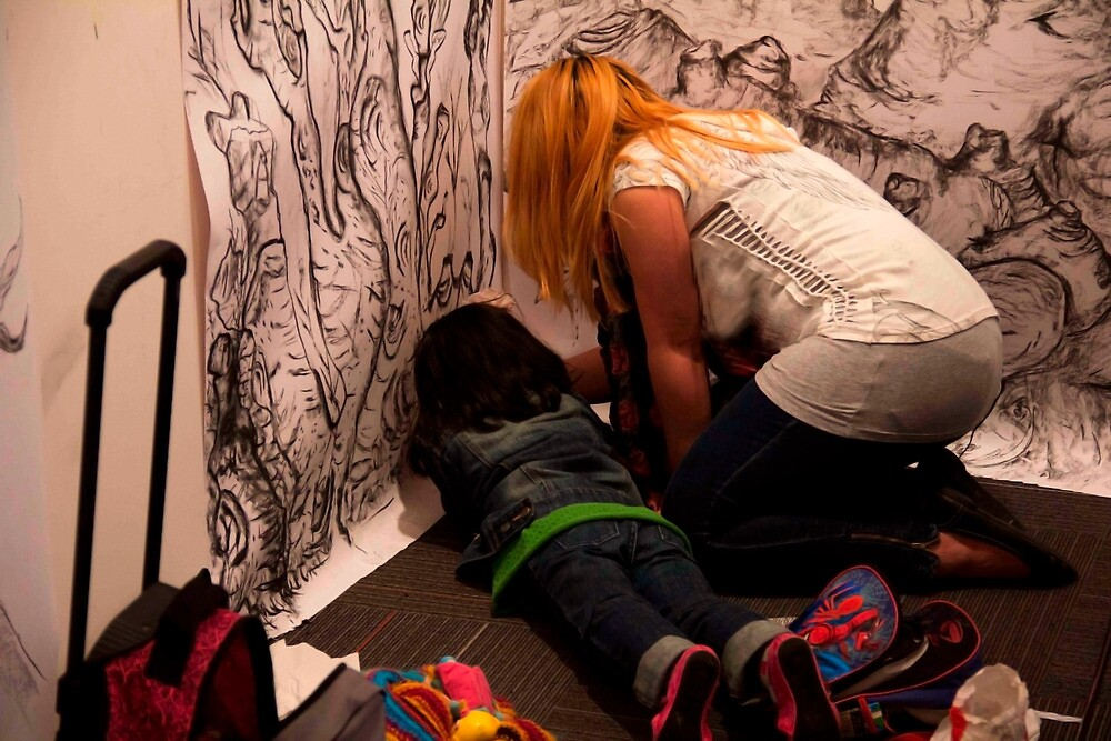 My Daughter & I Drawing... by C Rodriguez