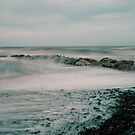 Rossell Beach Stone Groyne by John Hare