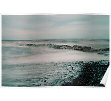 Rossell Beach Stone Groyne Poster