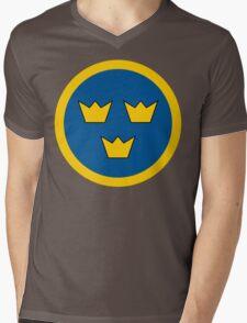 Swedish Air Force Insignia Mens V-Neck T-Shirt