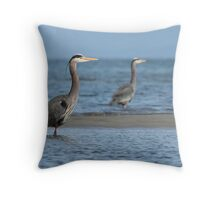 Two Herons Throw Pillow