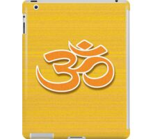 Aum symbol on textured background iPad Case/Skin