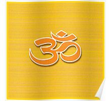 Aum symbol on textured background Poster
