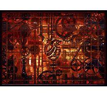 Steampunk Coronary Clockwork Gears Photographic Print